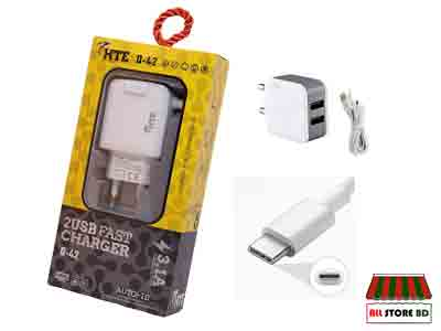 HTE 2usb type-c support fast charger